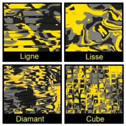 Rouleau de 1m x 1.50m jaune camouflage