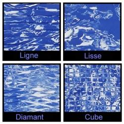 Rouleau de 1m x 1.50m bleu royale marbré