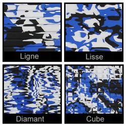 Rouleau de 1m x 1.50m bleu camouflage