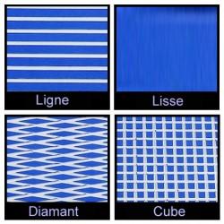 Rouleau de 1m x 1.50m bleu et blanc