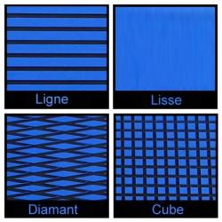 Rouleau de 1m x 1.50m bleu et noir