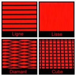 Rouleau de 1m x 1.50m rouge et noir