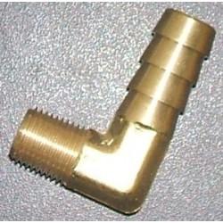 Insert laiton 90° pour durite d'eau 3/8'''' (9,5mm)