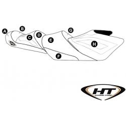 Housse de selle (HT) pour FX HO Cruiser (14-17), FX SHO Cruiser (14-16), FX SVHO Cruiser / Ltd (15-17)