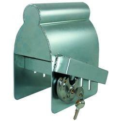Boitier antivol acier galva pour attelage remorque