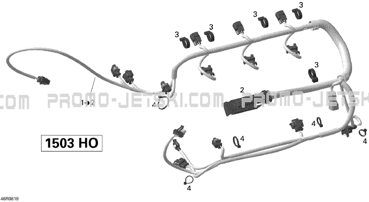 10- Engine Harness For Seadoo Rxp X 255  2008 2008