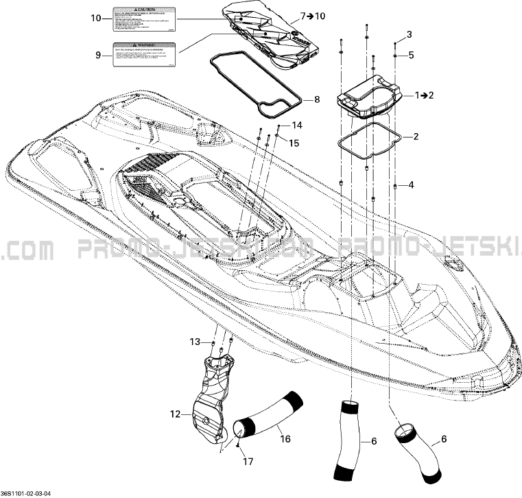 09- ventilation for seadoo rxt is 260  2011 2011