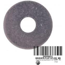 WASHER-FLAT STLSS. M8