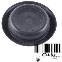 CAP BLACK * PLUG-BLACK
