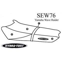 Housse de selle hydroturf pour wave raider