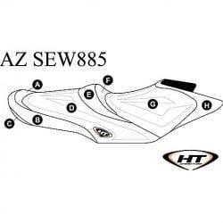 Housse (HT) GTR215, GTI SE 130/155, GTI Ltd 155 (12-16)