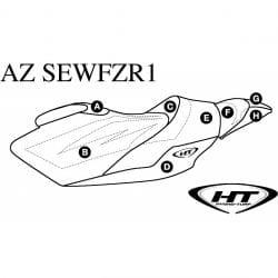 Housse de selle (HT) pour FZR (12+)