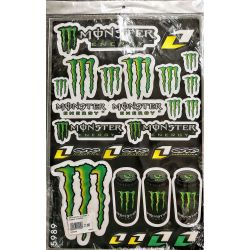 Plaquette de stickers Monster Energy