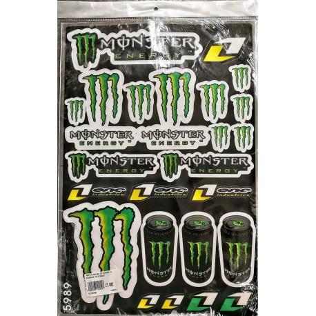 Plaquette de stickers Monster Energy