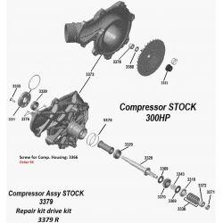 Pièces détachées Compresseur Seadoo 300