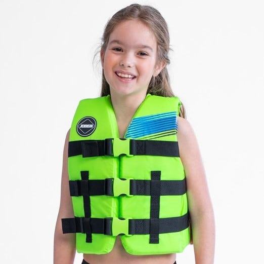 Jobe Nylon Gilet Jeunes Enfants Gilet de Sauvetage Veste de Sauvetage Vert