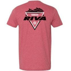 T-Shirt RIVA Racing - Trifecta Yamaha - Rouge Pale Chiné
