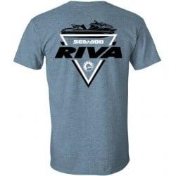 T-Shirt RIVA Racing - Trifecta SEADOO - Gris Indigo