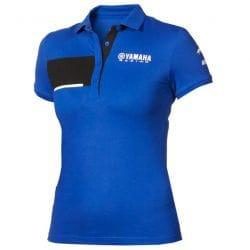Polo piqué Yamaha Paddock Bleu pour femme