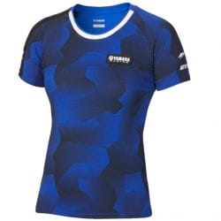 T-shirt camouflage Yamaha Paddock Bleu pour femme