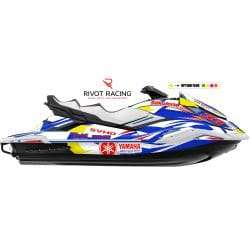 Kit Déco pour jet ski Yamaha FX (19 et +) Rouge & Bleu