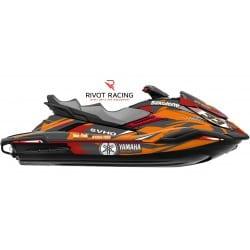 Kit Déco pour jet ski Yamaha FX (19 et +) Rouge & Orange