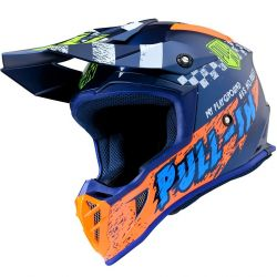 Casque PULL-IN Trash Navy Orange