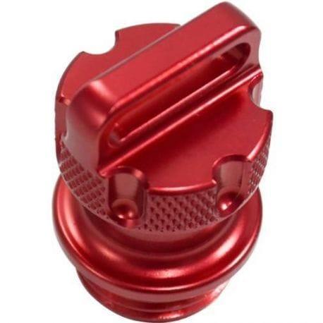 Bouchon d'huile anodisé RIVA pour Yamaha 1.8 Rouge