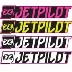 4 Stickers Jetpilot rectangle de 53cm