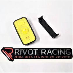Mini black flash light for jet ski