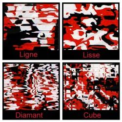 Rouleau de 1m x 1.50m rouge camouflage