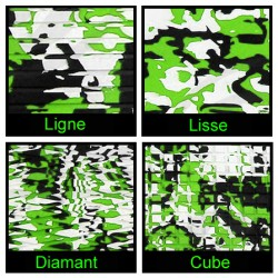 Rouleau de 1m x 1.50m vert camouflage