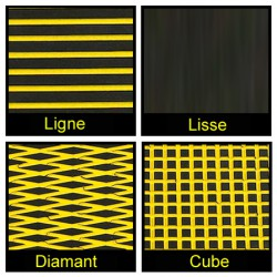 Rouleau de 1m x 1.50m noir et jaune
