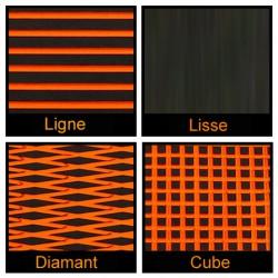 Rouleau de 1m x 1.50m noir et orange