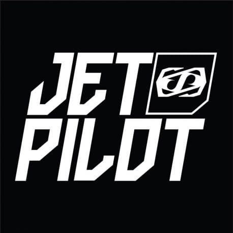 Stickers Jetpilot carré noir 10.5cm