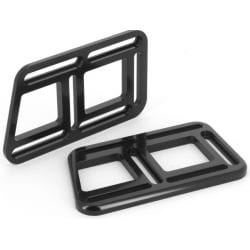 Kit platines noir réglable pour cale-pieds XFR / XFS 15+