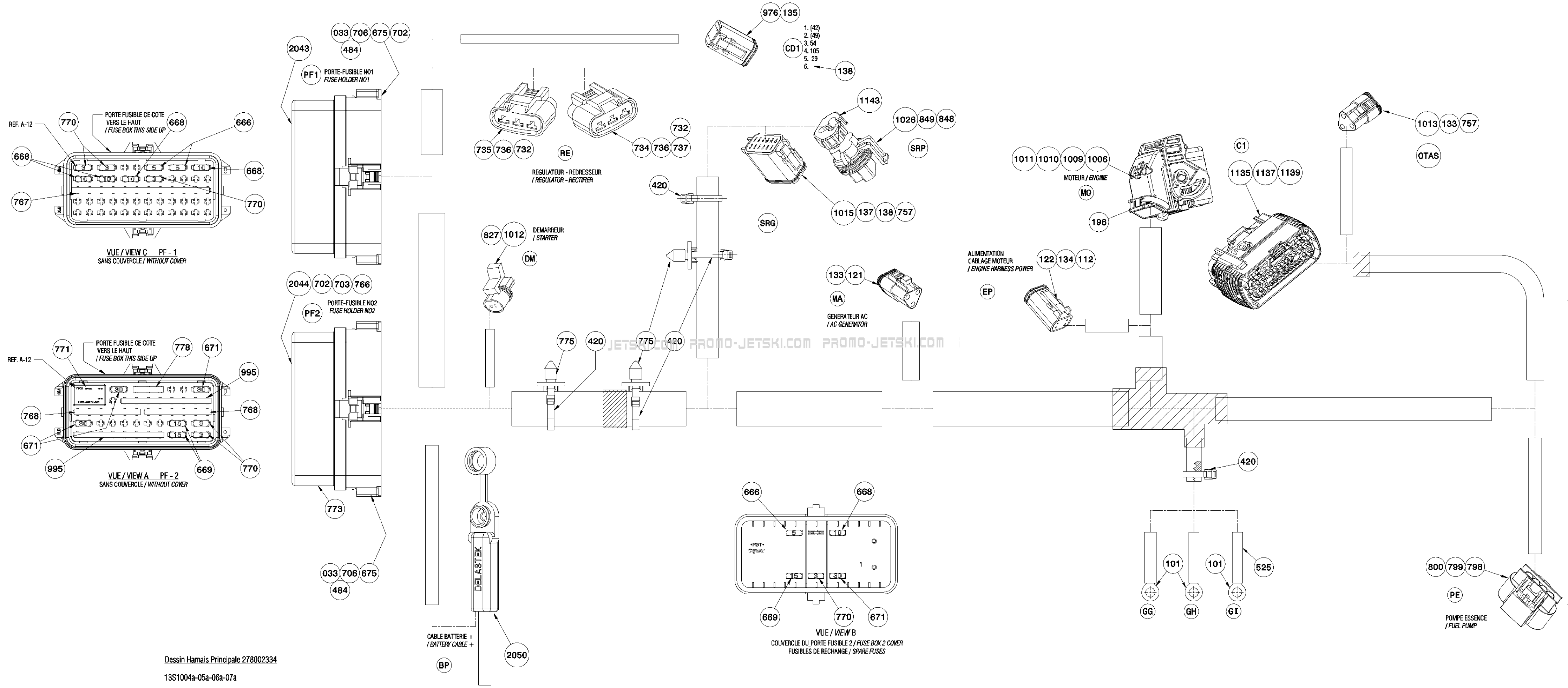 1999 Seadoo Gtx Electrical Schematic